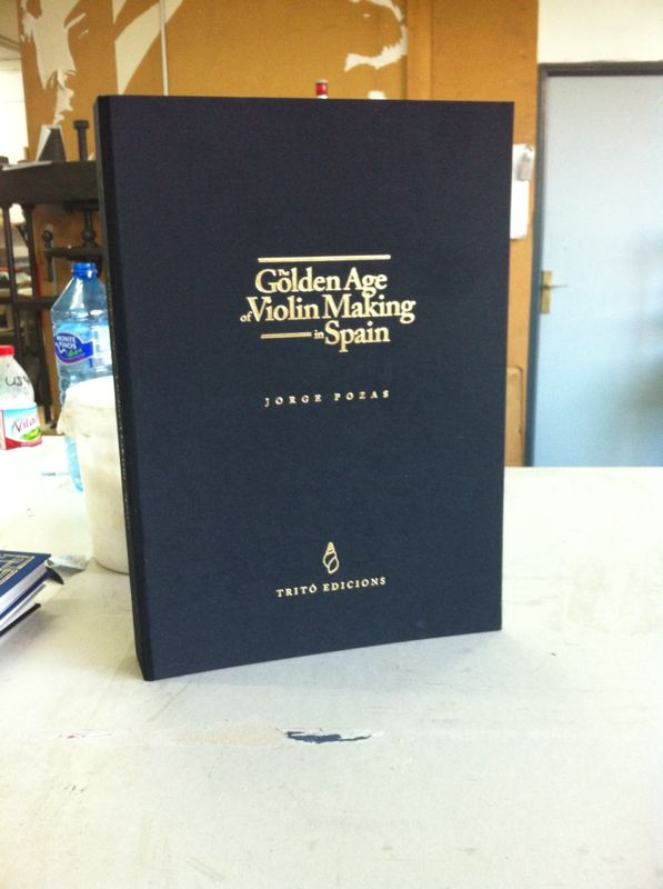 Finished cover of The Golden Age of Violin Making in Spain